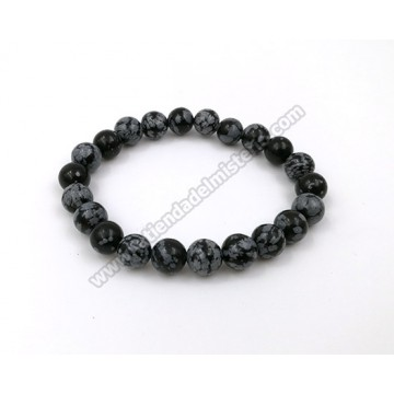 Pulsera obsidiana nevada 6mm