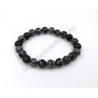 Pulsera obsidiana nevada 8 mm